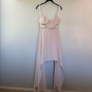 Halston peek a boo dress